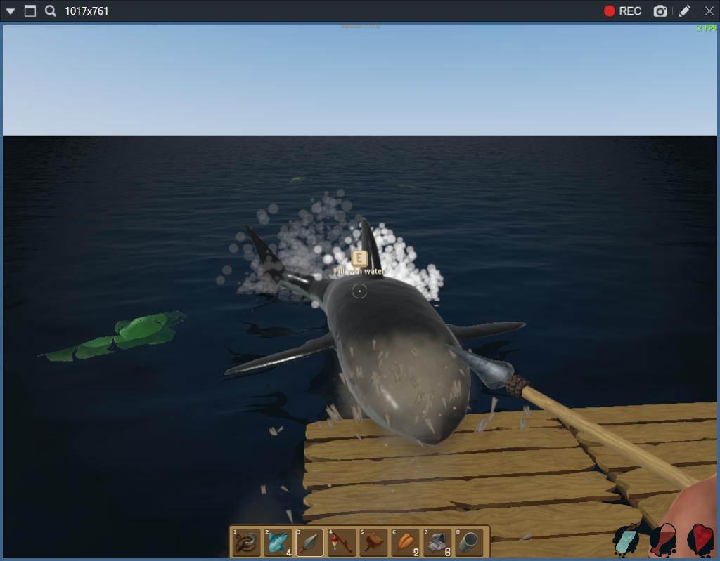 ラフト、サメがイカダを襲って来た画像