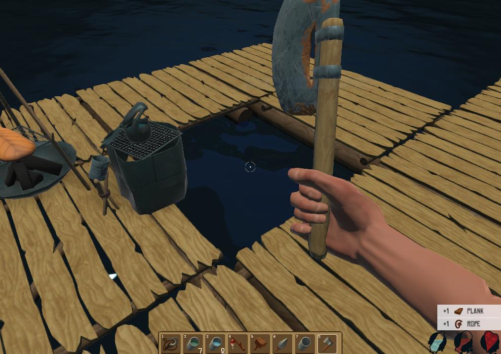 ラフト、斧の使い方の画像
